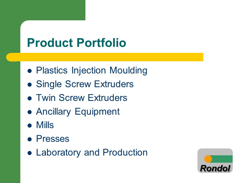 Product Portfolio Plastics Injection Moulding Single Screw Extruders