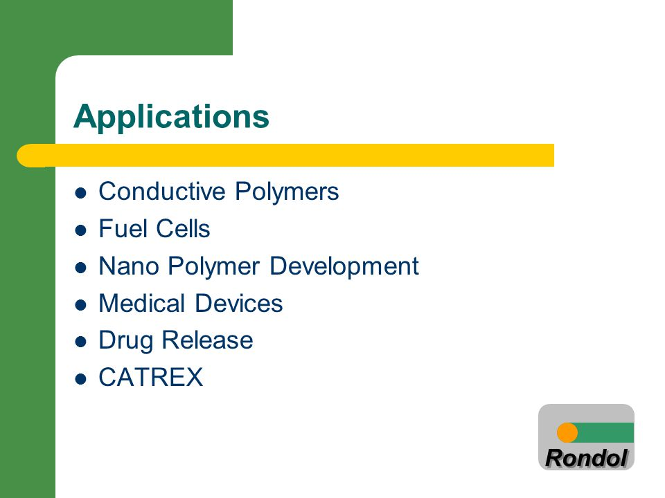 Applications Conductive Polymers Fuel Cells Nano Polymer Development