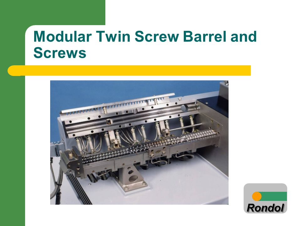 Modular Twin Screw Barrel and Screws