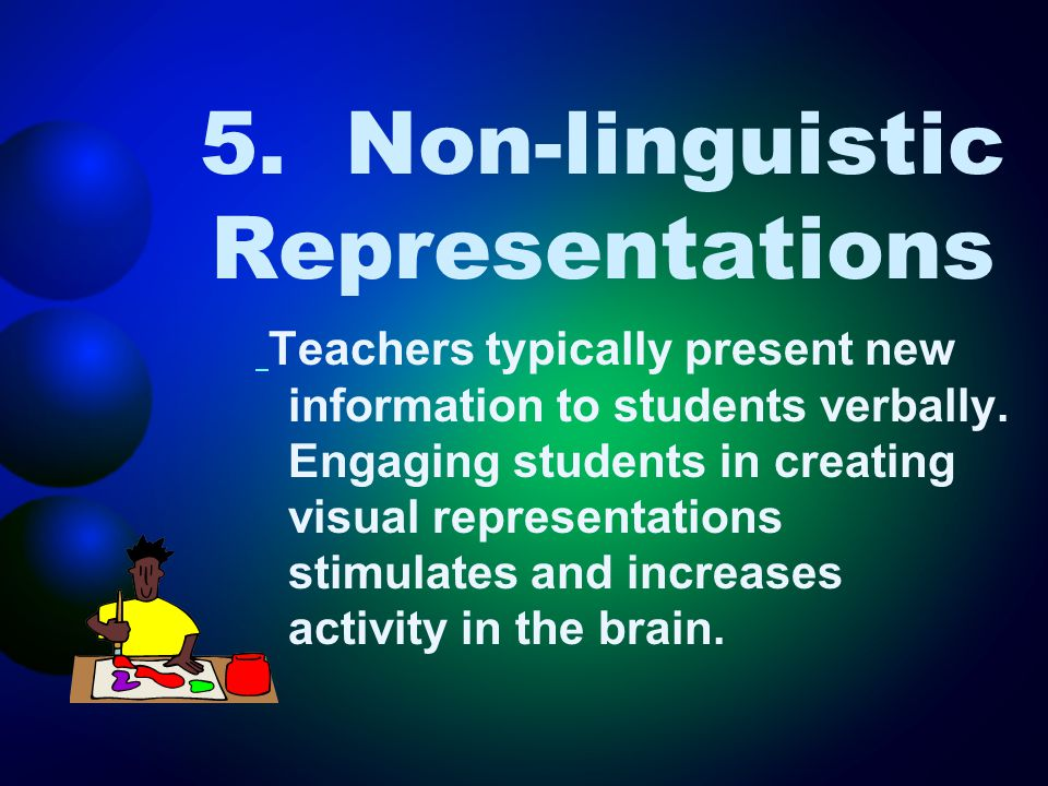 5. Non-linguistic Representations
