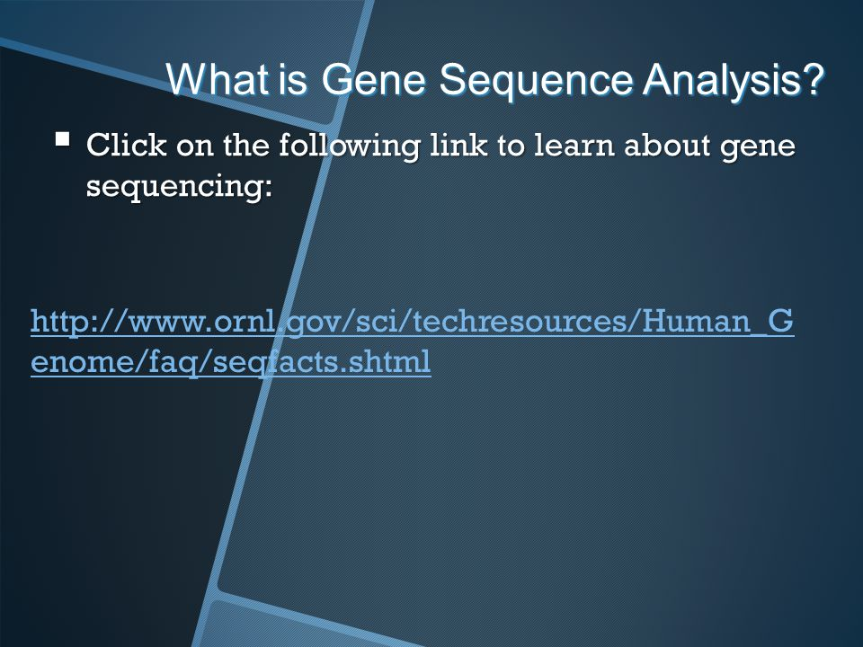 What is Gene Sequence Analysis