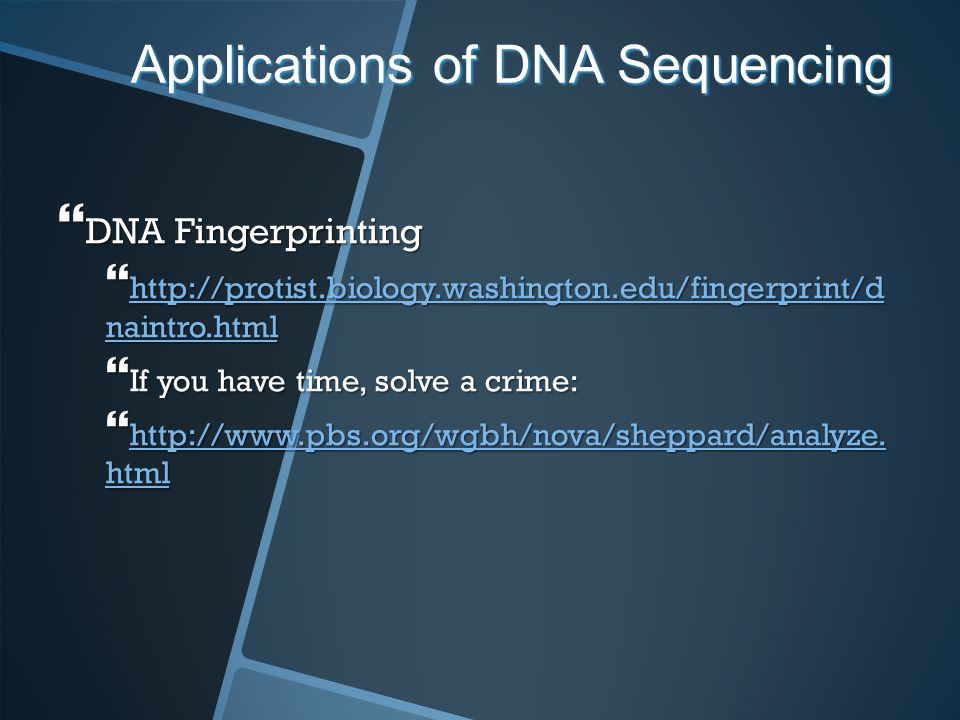 Applications of DNA Sequencing