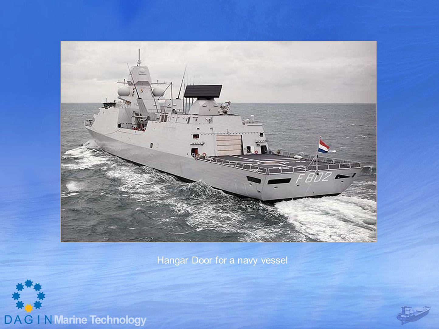 Hangar Door for a navy vessel