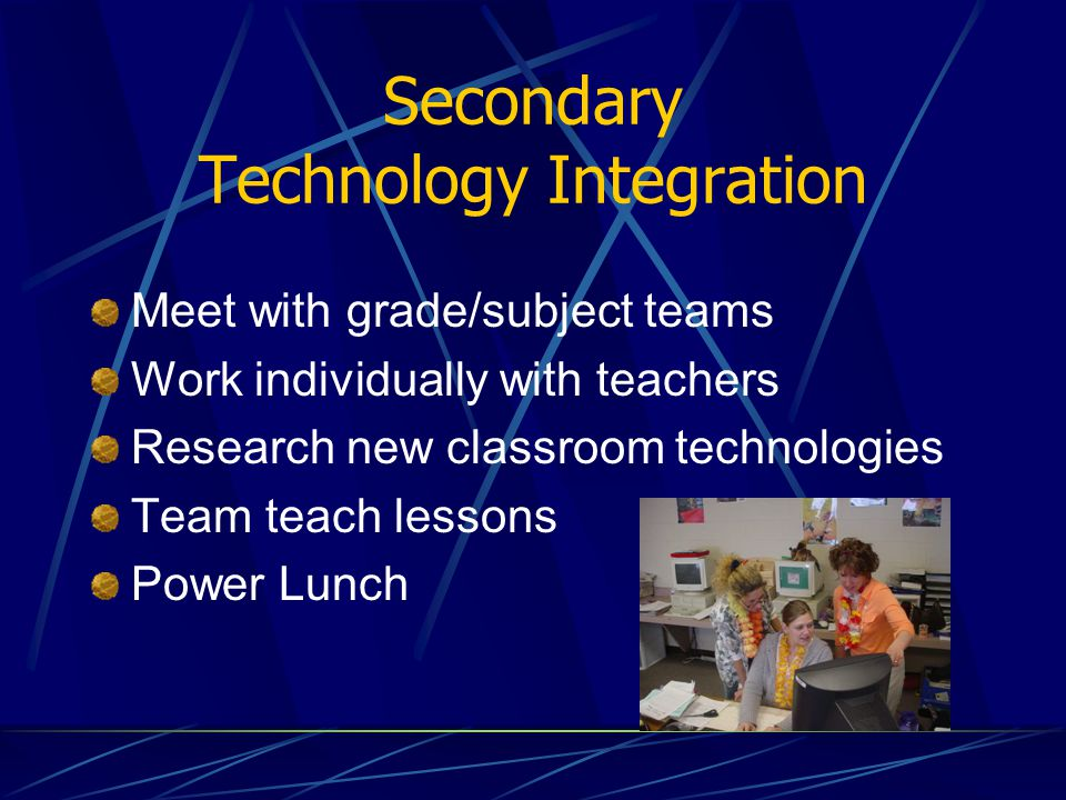 Secondary Technology Integration