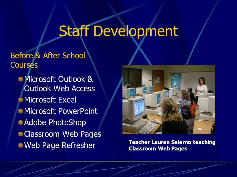 Staff Development Before & After School Courses