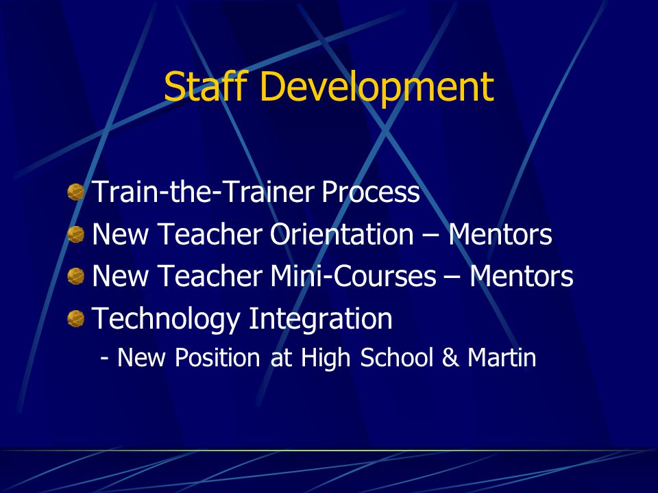 Staff Development Train-the-Trainer Process