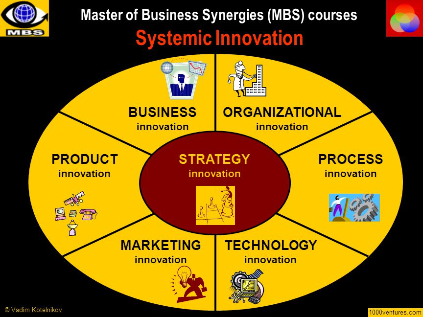 Master of Business Synergies (MBS) courses Systemic Innovation
