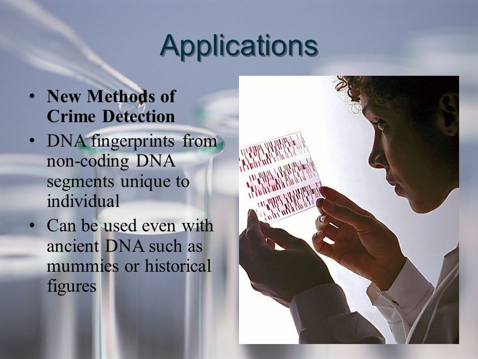 Applications New Methods of Crime Detection