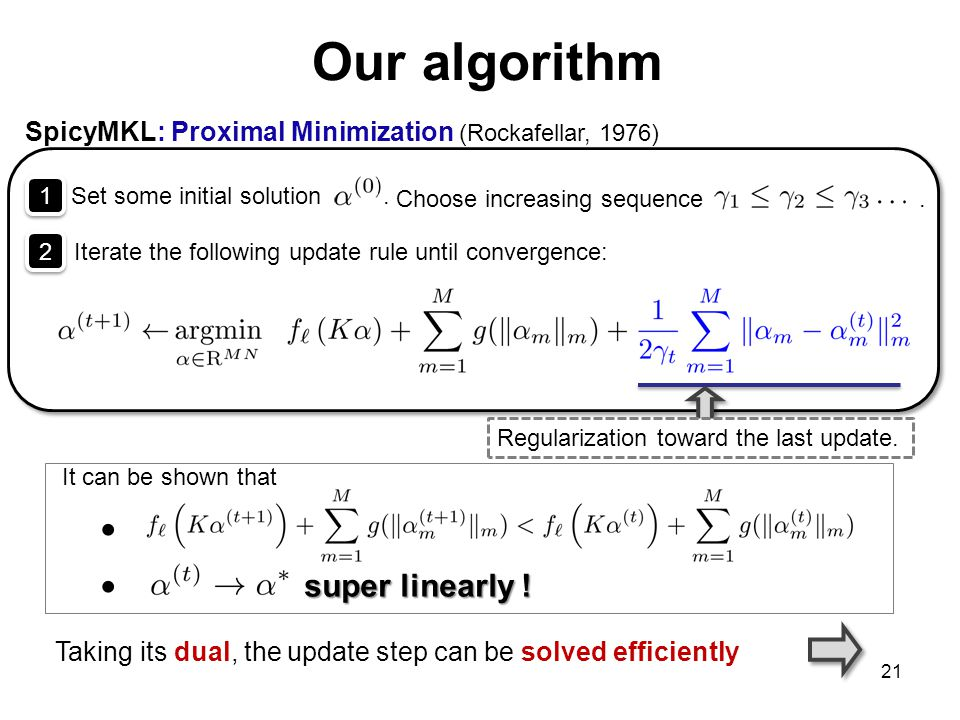 Our algorithm super linearly !