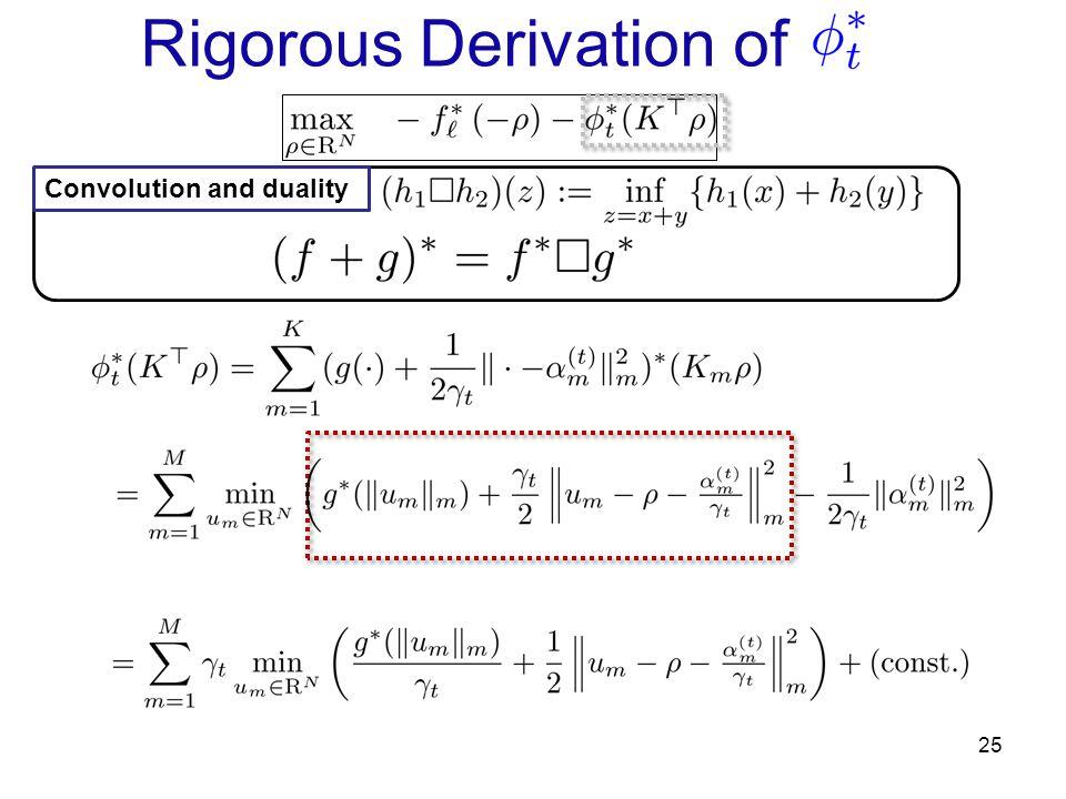 Rigorous Derivation of