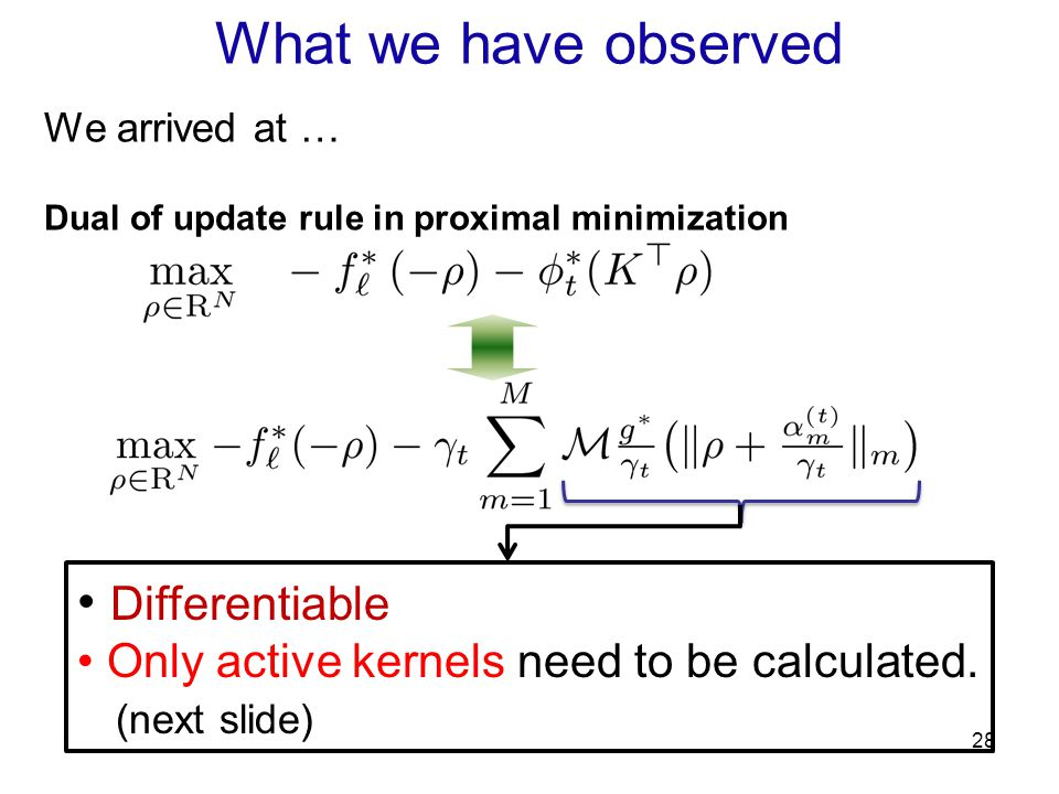 What we have observed Differentiable