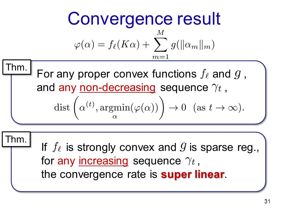 Convergence result For any proper convex functions and ,