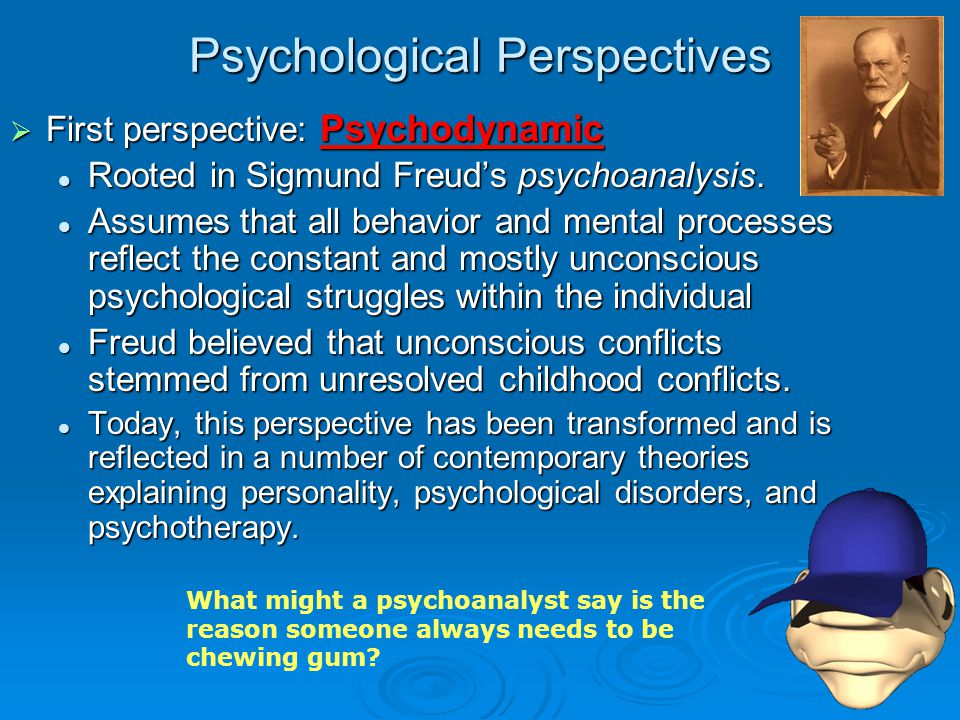 perspectives of pyschology Humanistic psychology is a psychological perspective that rose to prominence in the mid-20th century, drawing on the philosophies of existentialism and phenomenology, as well as eastern philosophy it adopts a holistic approach to human existence through investigations of concepts such as meaning, values, freedom, tragedy, personal responsibility, human potential, spirituality, and self-actualization.