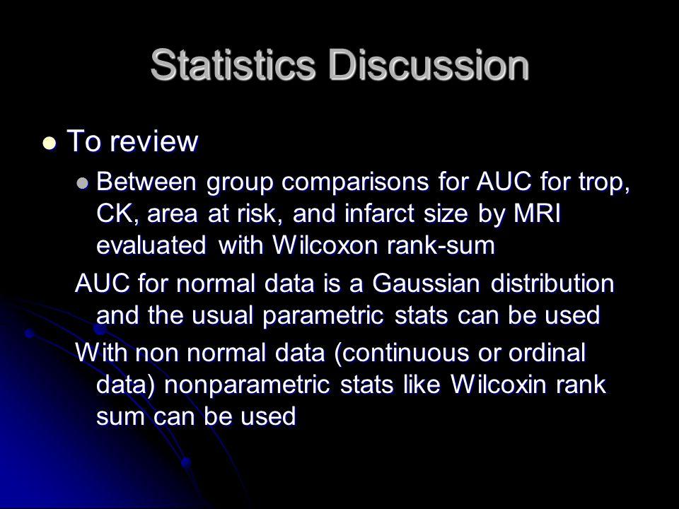 Statistics Discussion