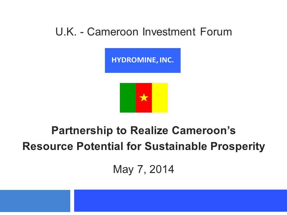 U.K. - Cameroon Investment Forum