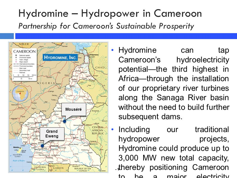 Hydromine – Hydropower in Cameroon Partnership for Cameroon's Sustainable Prosperity