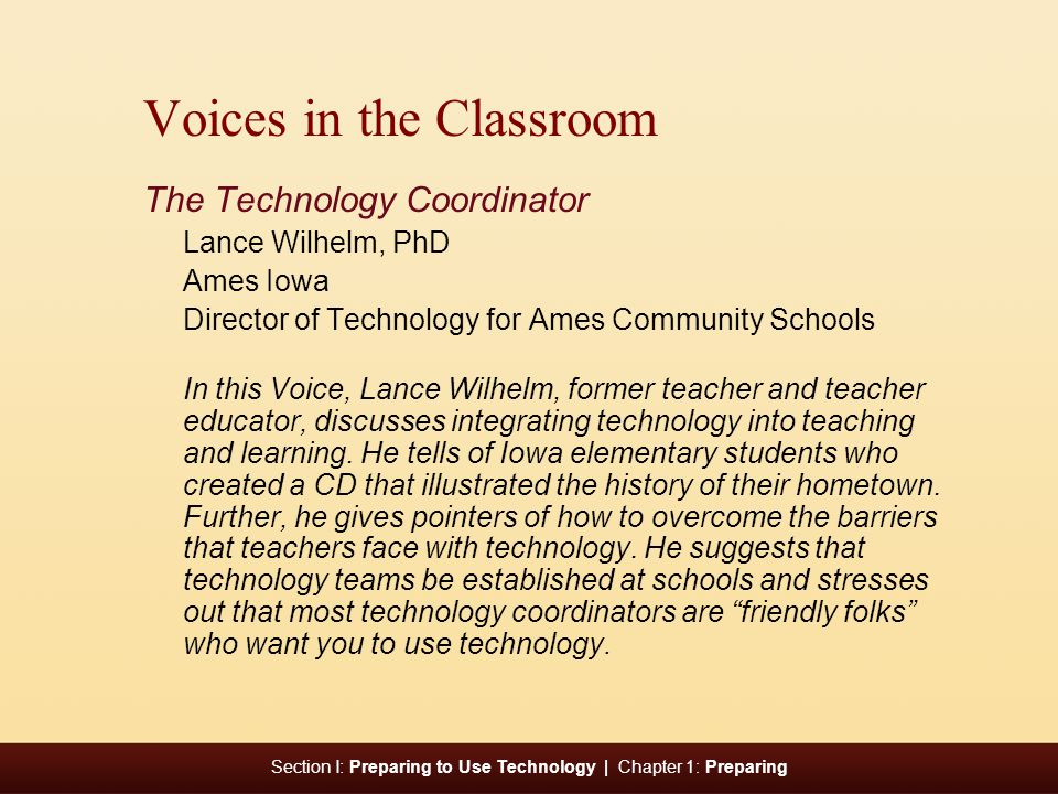 Voices in the Classroom
