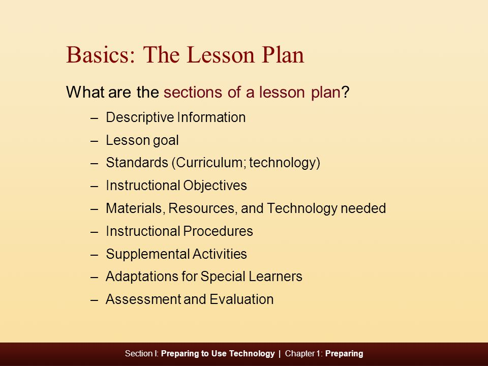 Basics: The Lesson Plan