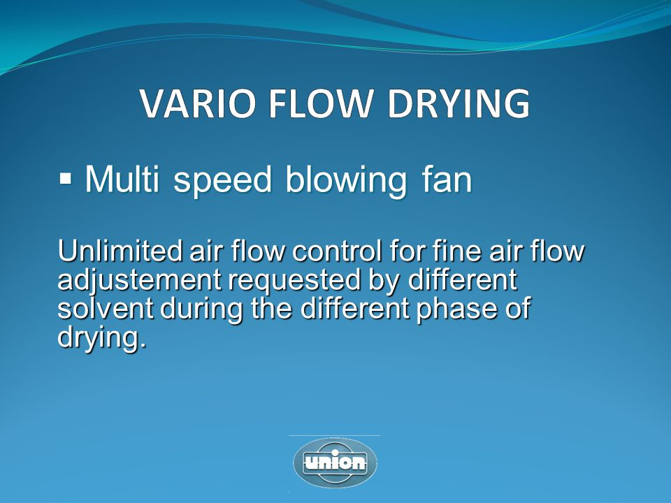 VARIO FLOW DRYING Multi speed blowing fan
