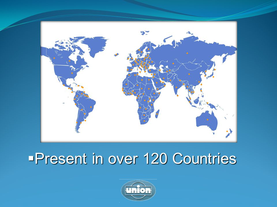 Present in over 120 Countries