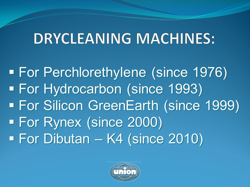 DRYCLEANING MACHINES: