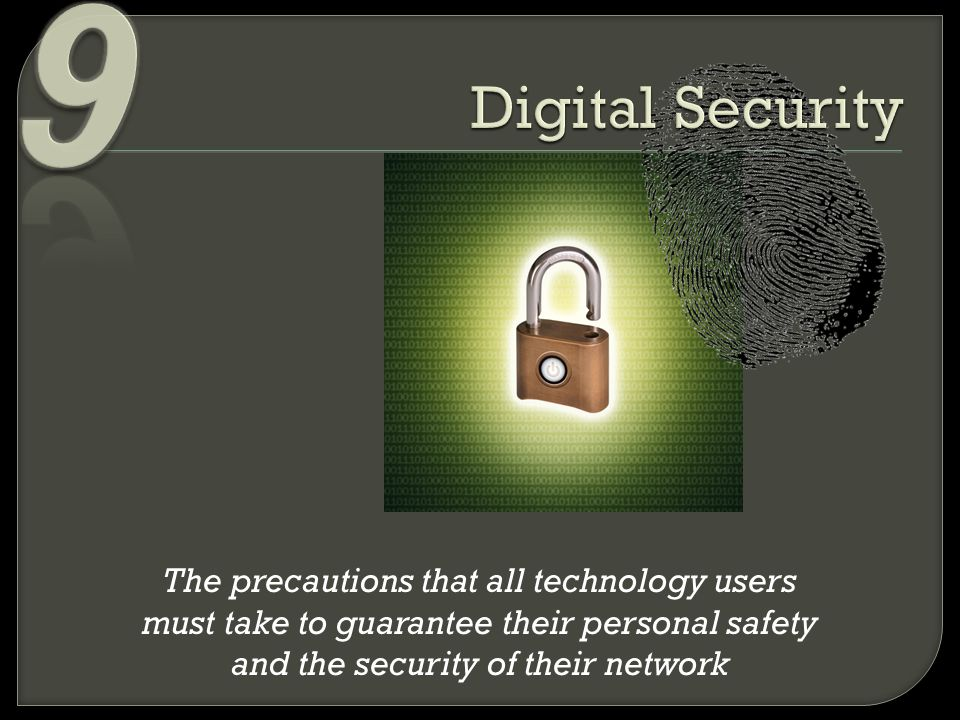 9 Digital Security.