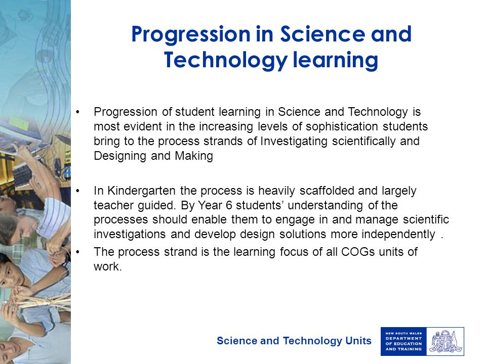 Progression in Science and Technology learning