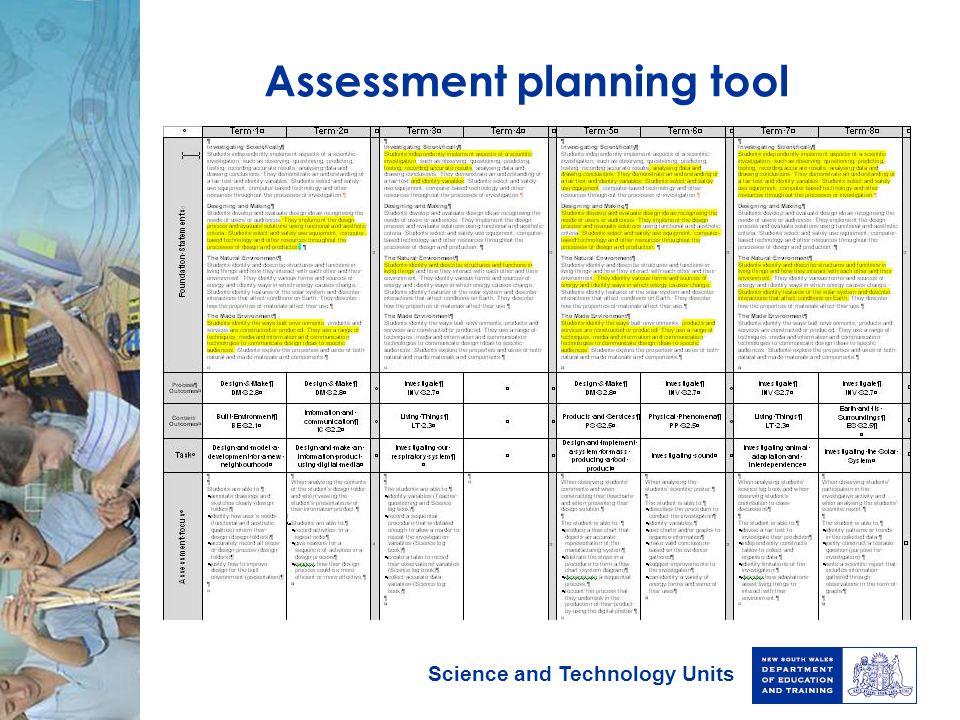 Assessment planning tool