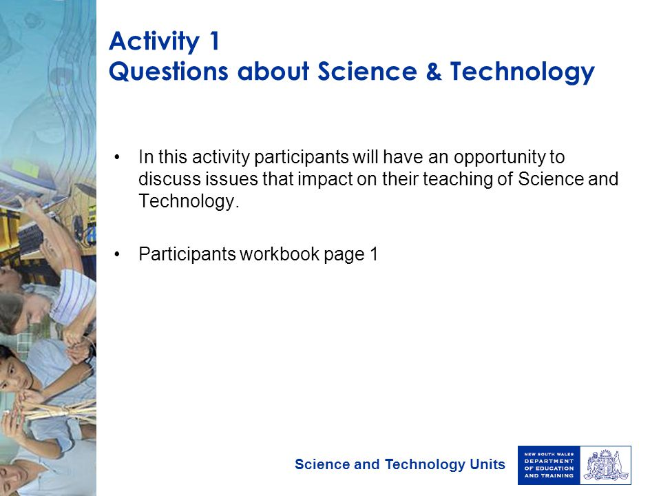 Activity 1 Questions about Science & Technology