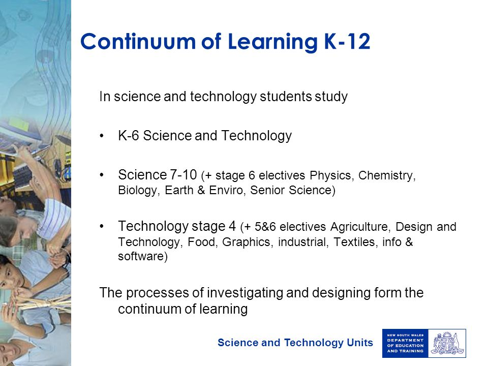 Continuum of Learning K-12