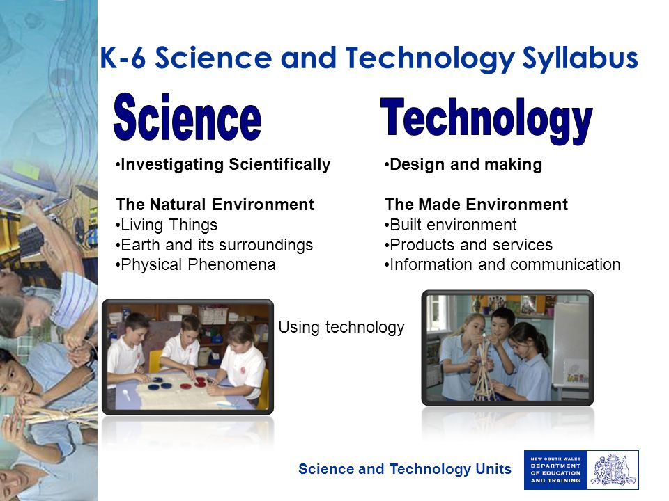 K-6 Science and Technology Syllabus