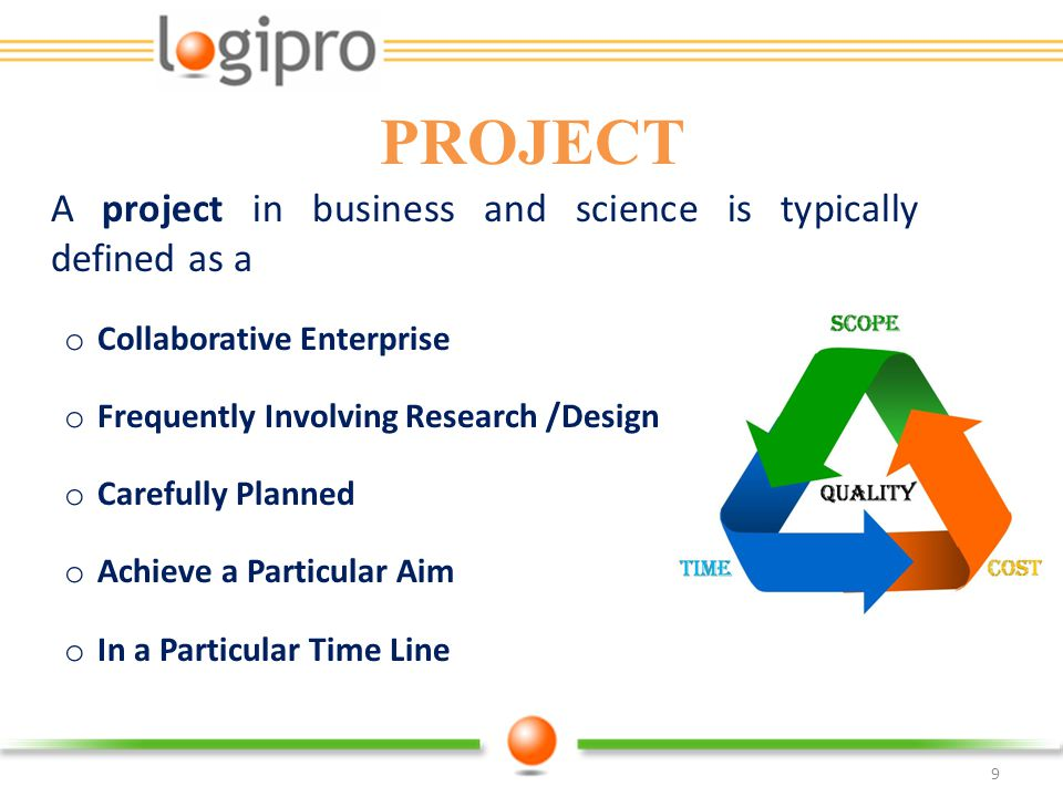 PROJECT Collaborative Enterprise Frequently Involving Research /Design