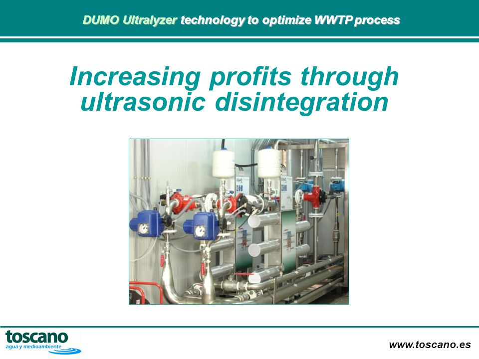 Increasing profits through ultrasonic disintegration