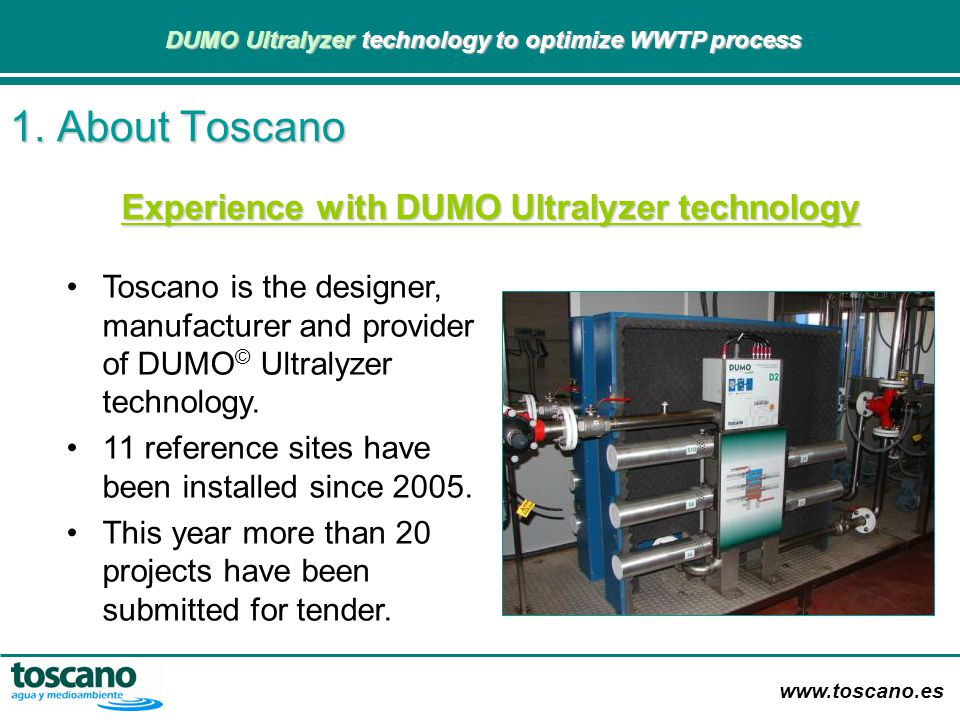 Experience with DUMO Ultralyzer technology