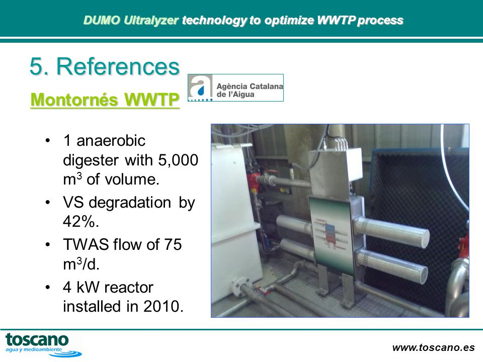 5. References Montornés WWTP