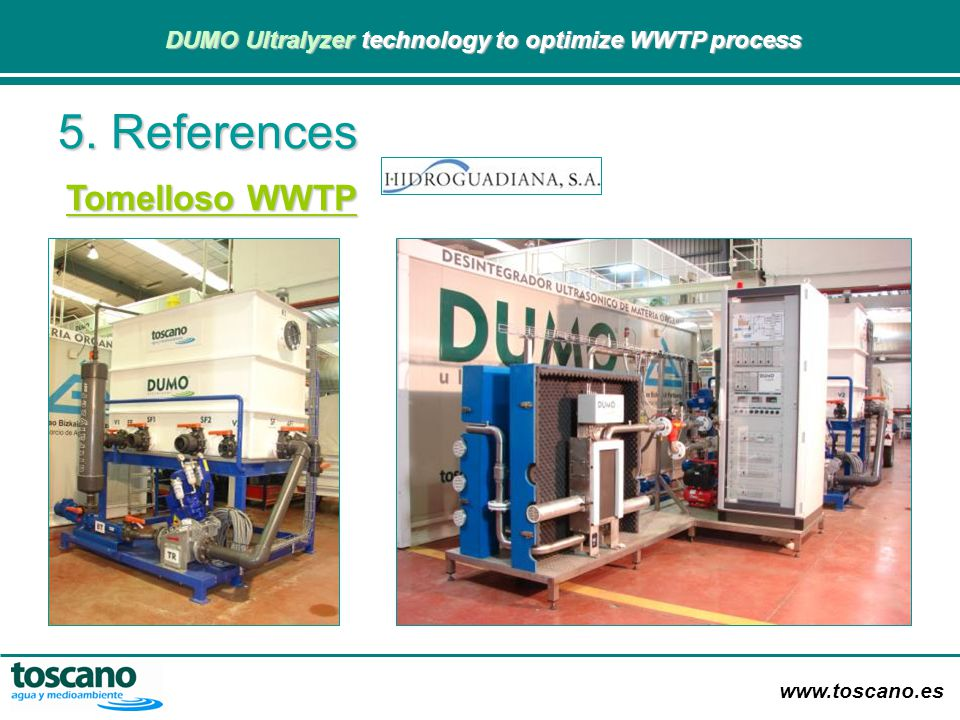 5. References Tomelloso WWTP