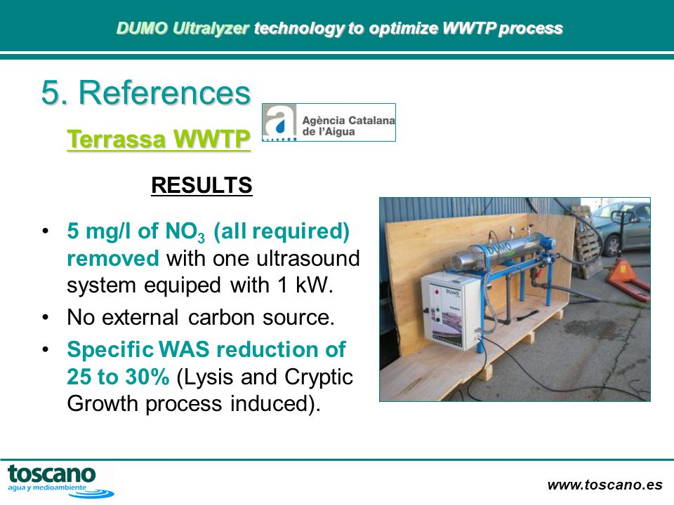 5. References Terrassa WWTP RESULTS