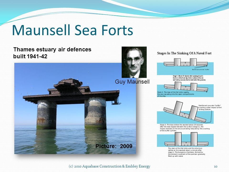 Maunsell Sea Forts Thames estuary air defences built 1941-42