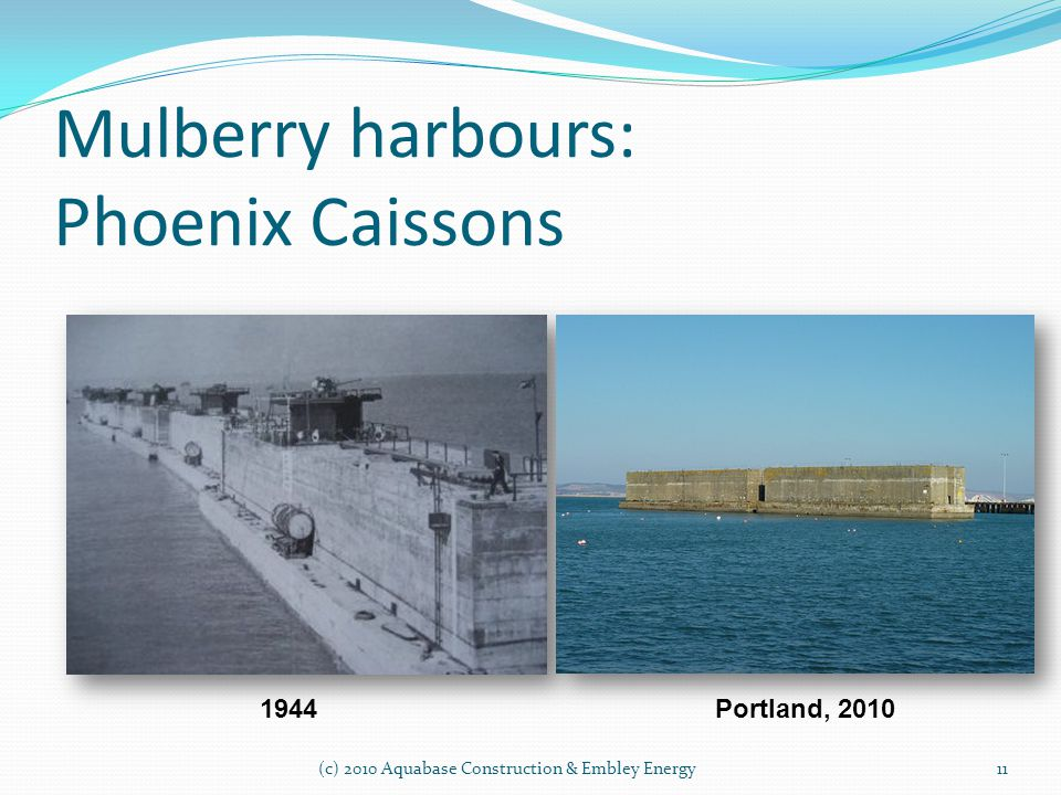 Mulberry harbours: Phoenix Caissons