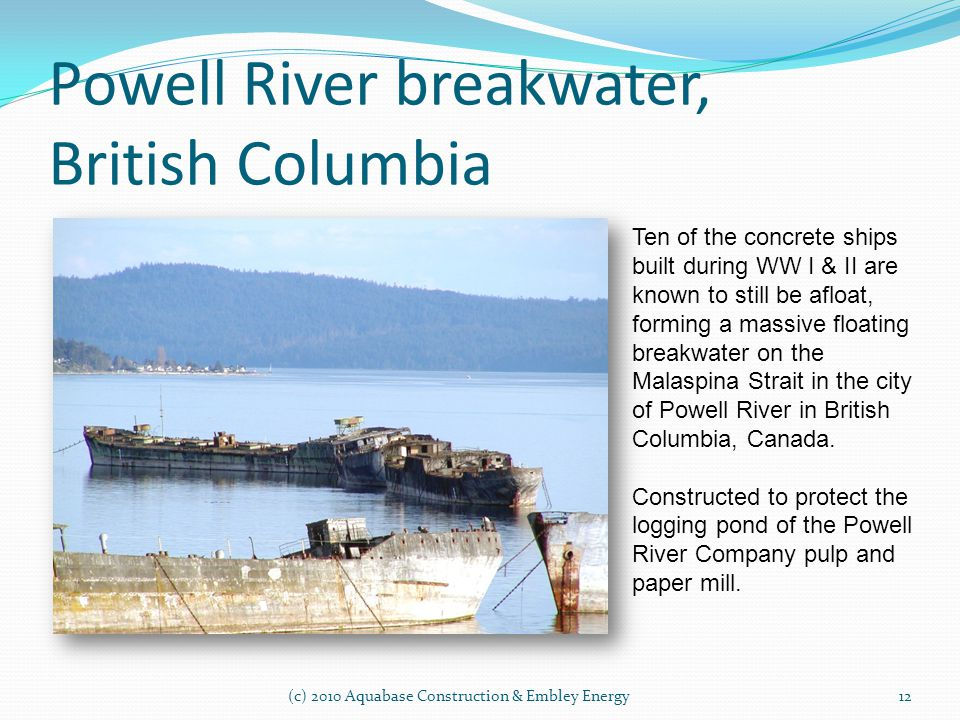 Powell River breakwater, British Columbia