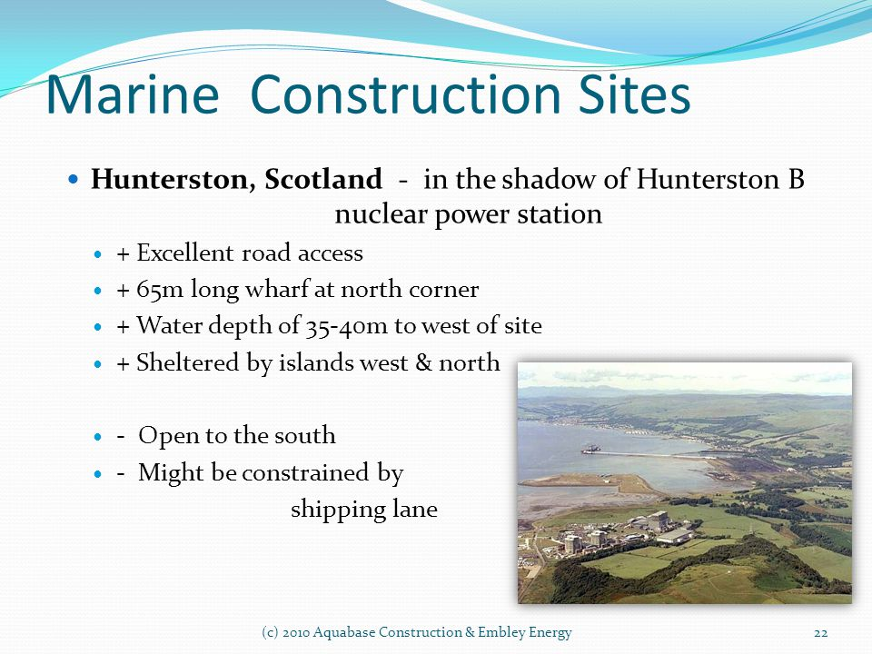 Marine Construction Sites