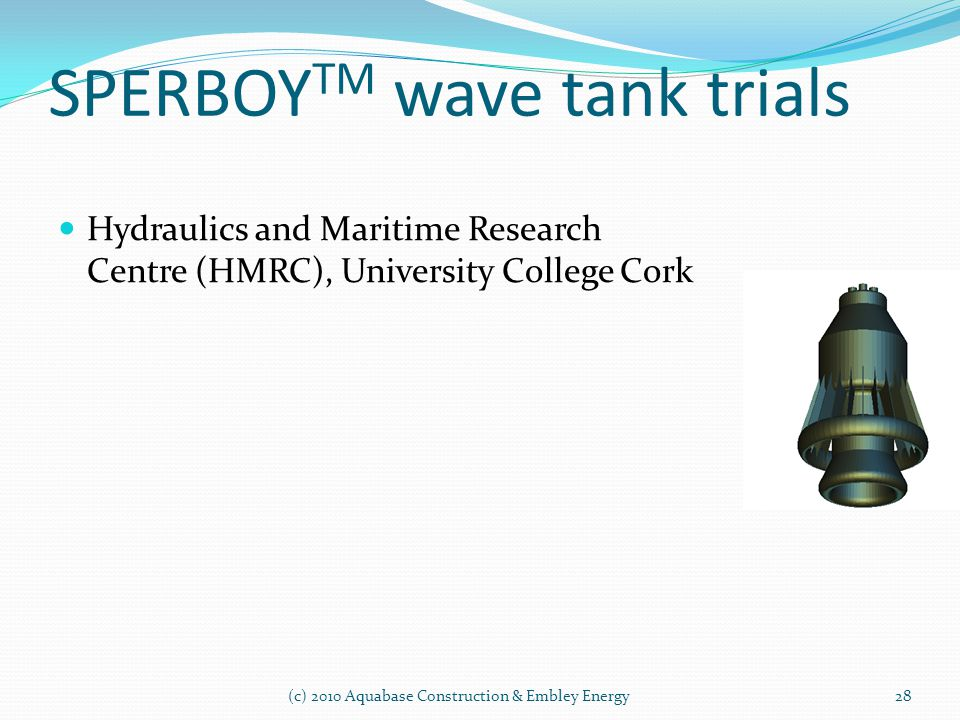 SPERBOYTM wave tank trials