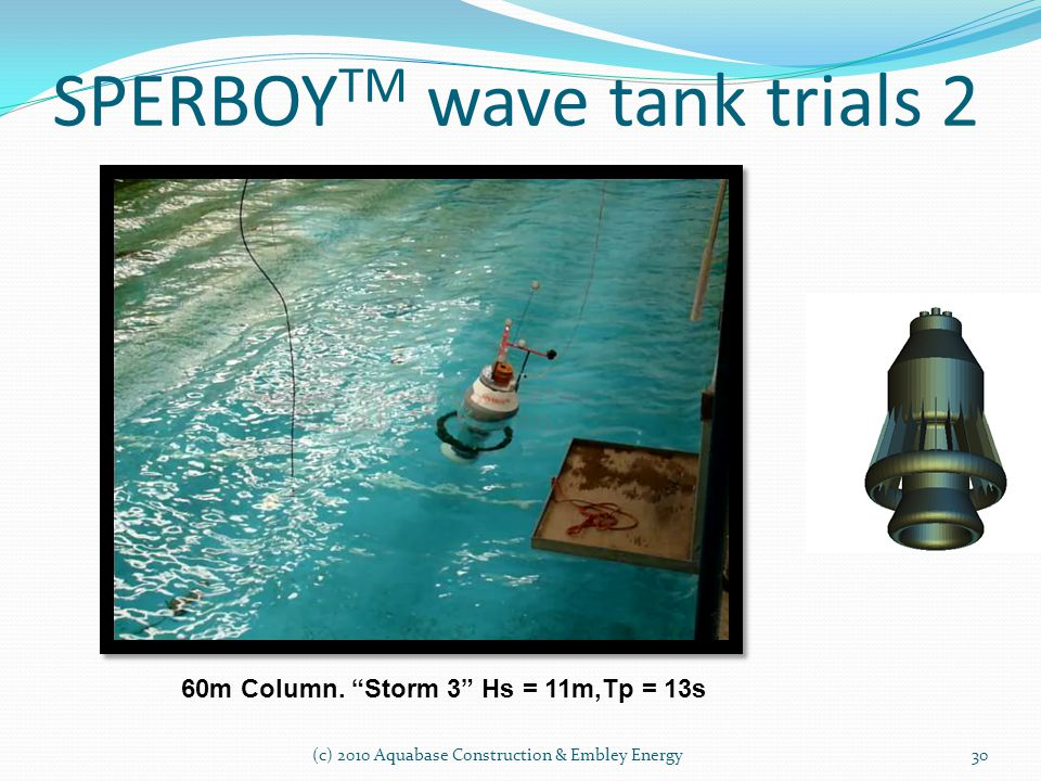 SPERBOYTM wave tank trials 2