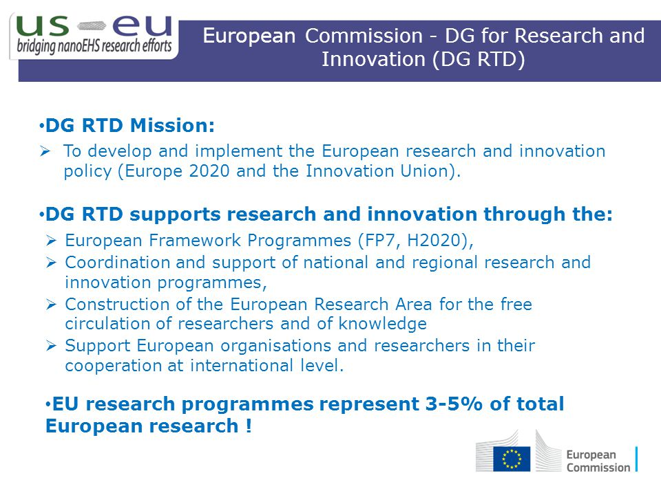 European Commission - DG for Research and Innovation (DG RTD)