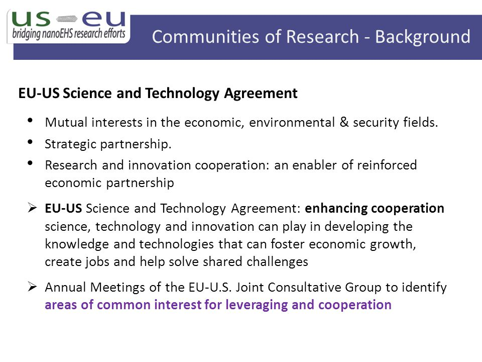 Communities of Research - Background