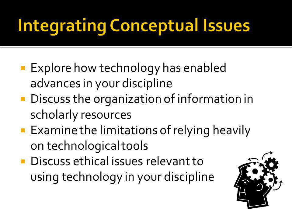 Integrating Conceptual Issues