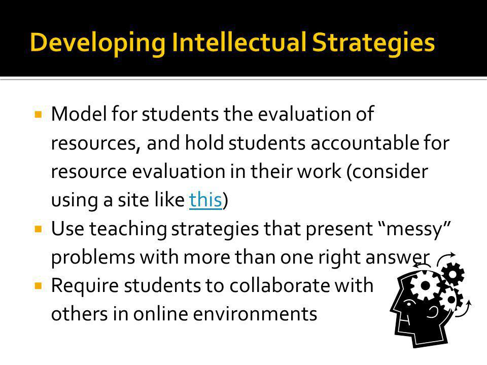 Developing Intellectual Strategies