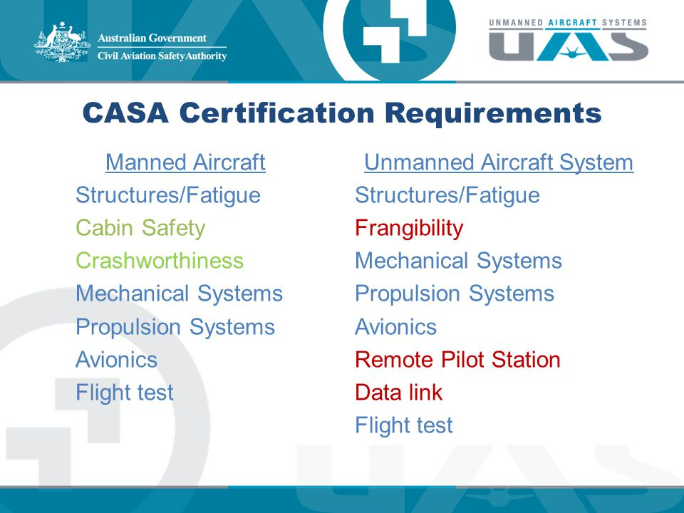 CASA Certification Requirements