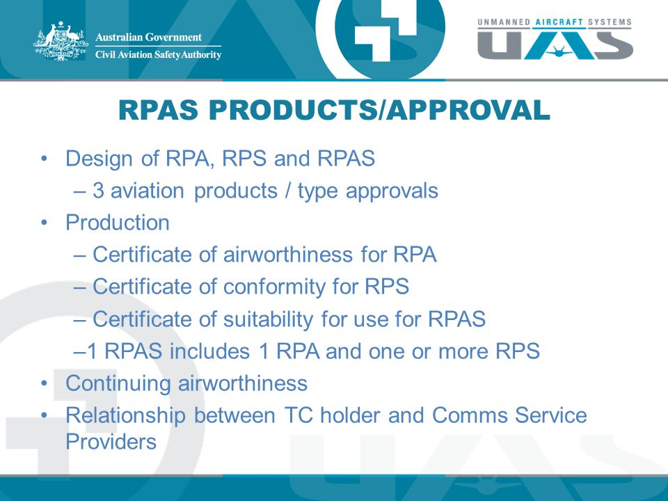 RPAS Products/Approval