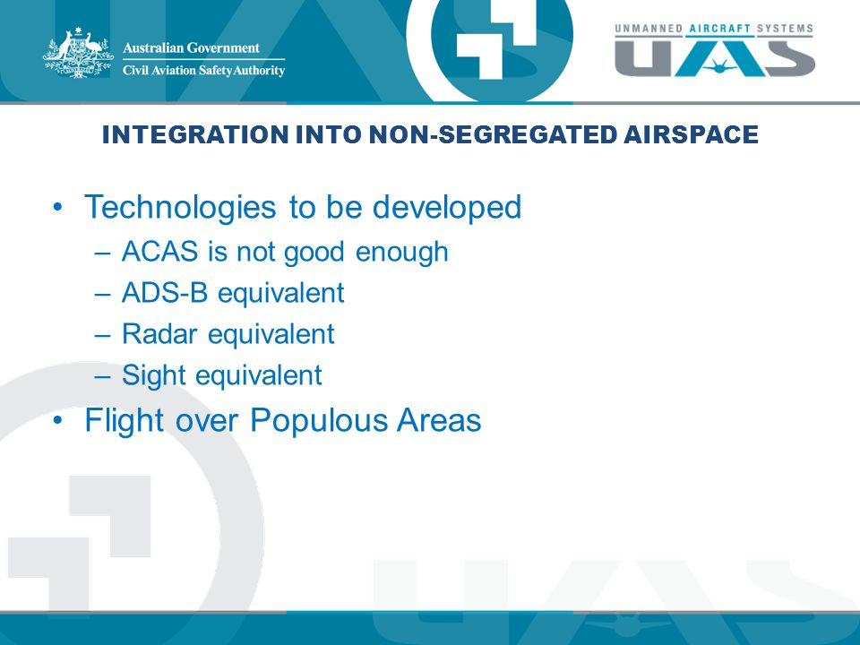 Integration into Non-segregated Airspace
